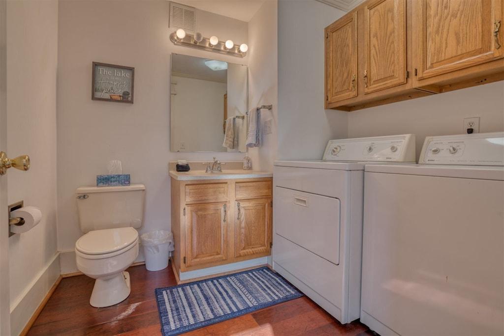 Half bath in laundry room