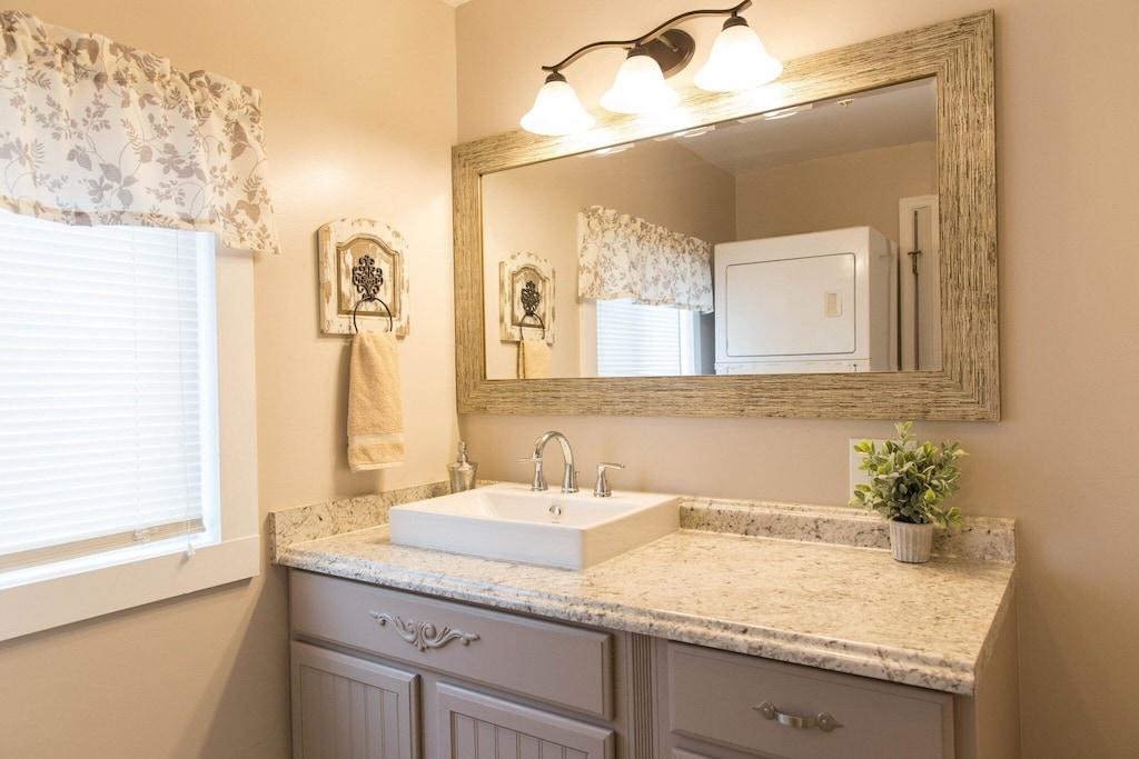 Beautiful bathroom with modern fixtures