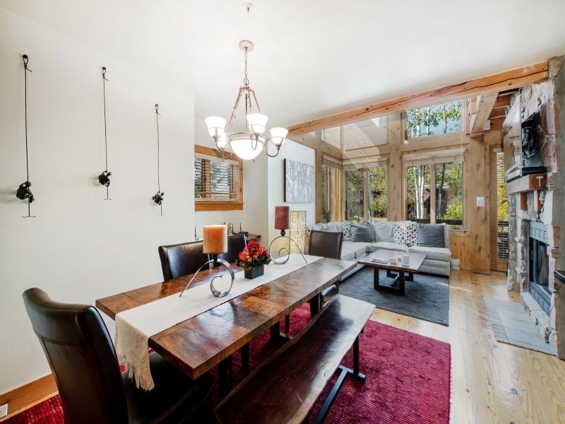 Dining area off living area