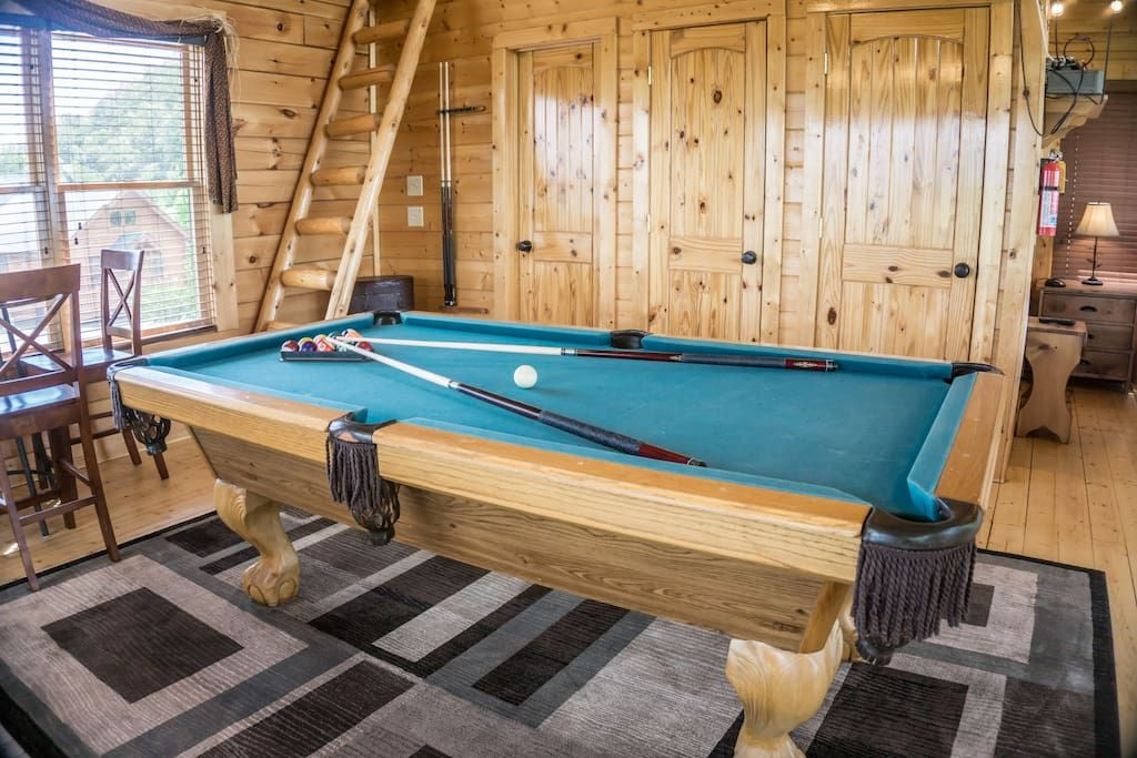 Challenge your family member to a game of pool