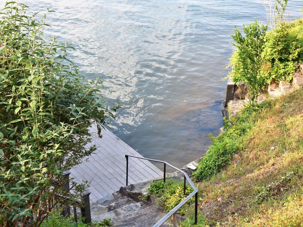 Walking onto the dock