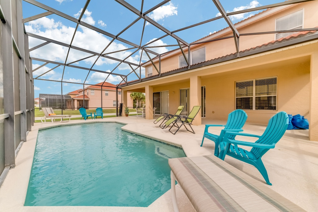 Private pool with covered lanai