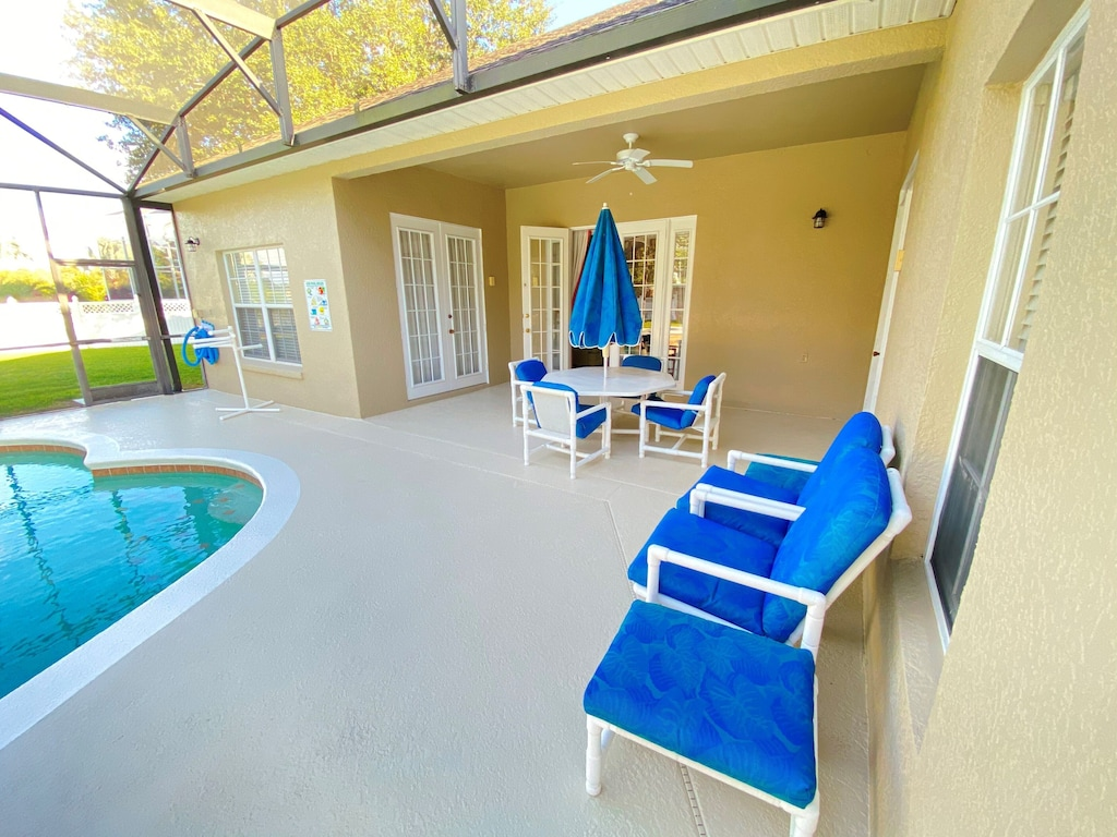 Luxury pool and spa with plenty of seating