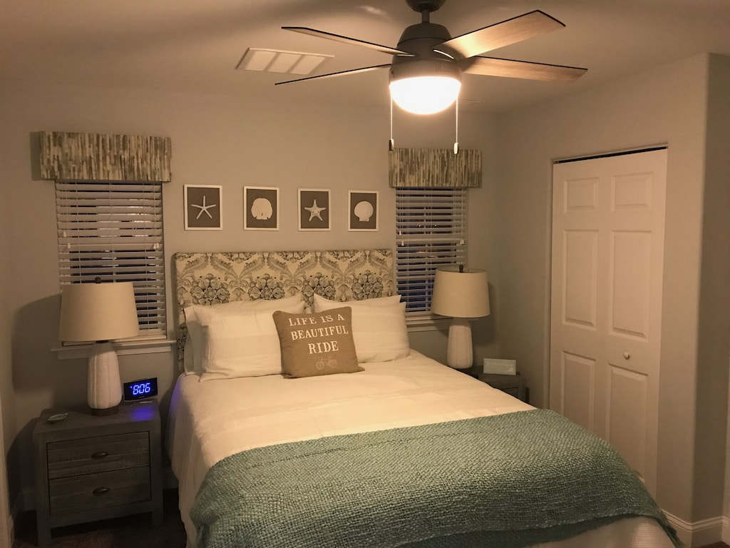 Queen bedroom with 2 closets, private full bathroom and private balcony!