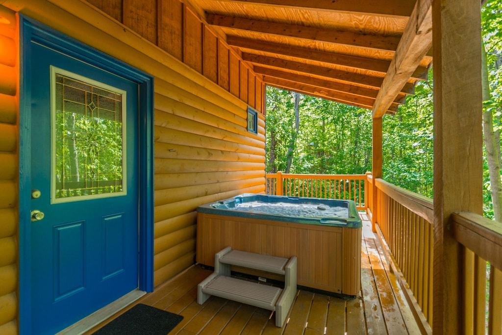 Hot Tub off Main Floor Wrap Around Deck