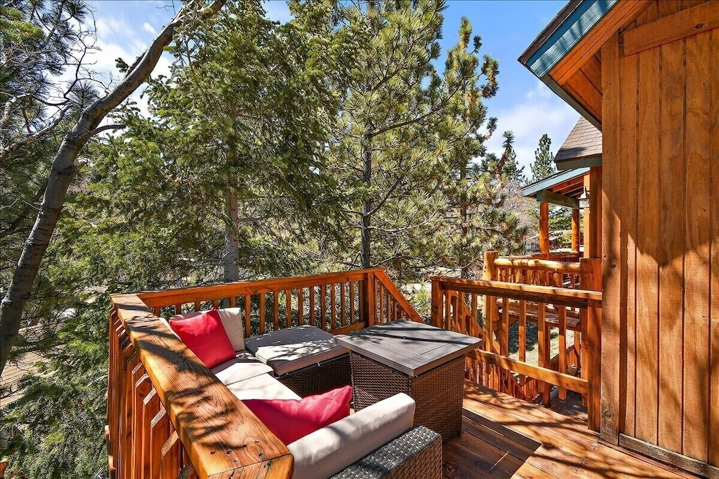 Sit and enjoy the views and fire pit at night and make smores for the family.