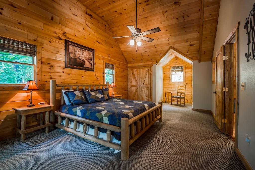 Upstairs King Log Bedroom