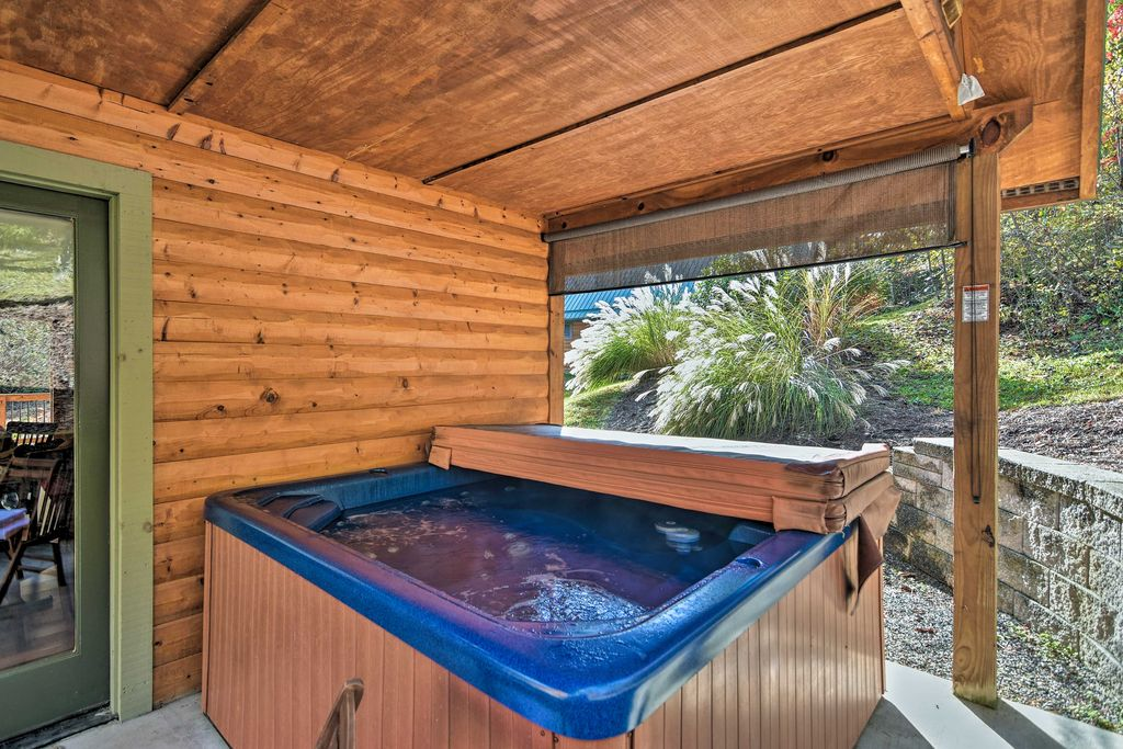 Enjoy luxurious perks, like this private 6-person hot tub.
