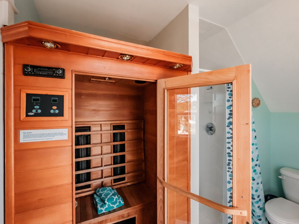 Optional suite has a bonus! The sauna is small, but easy to use with the touch of a button and it switches off automatically. *Optional in-law suite can be added to booking, just ask.*