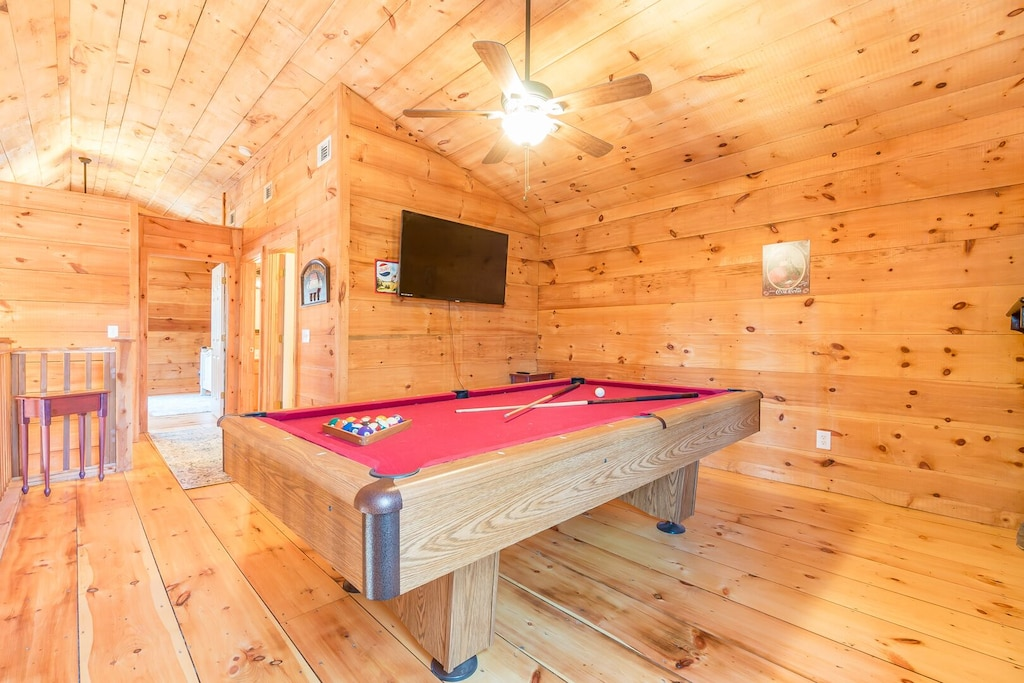 Pool Table in Loft Space