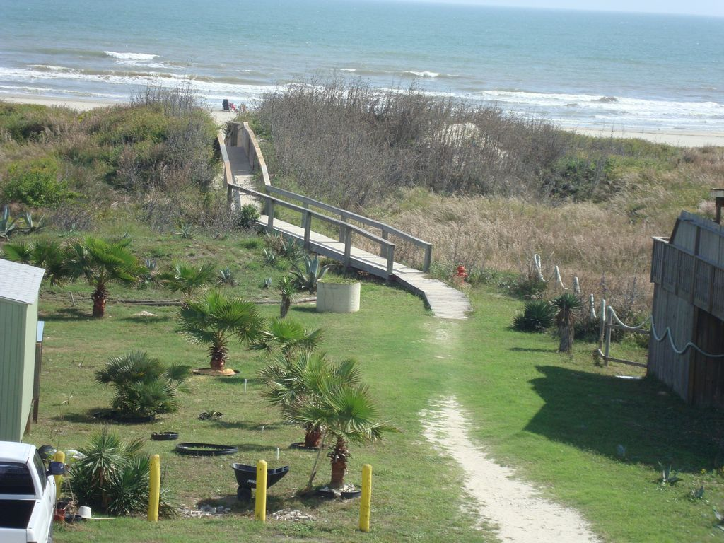 No hiking to the beach when you're staying at Anchor House in Sand Point!