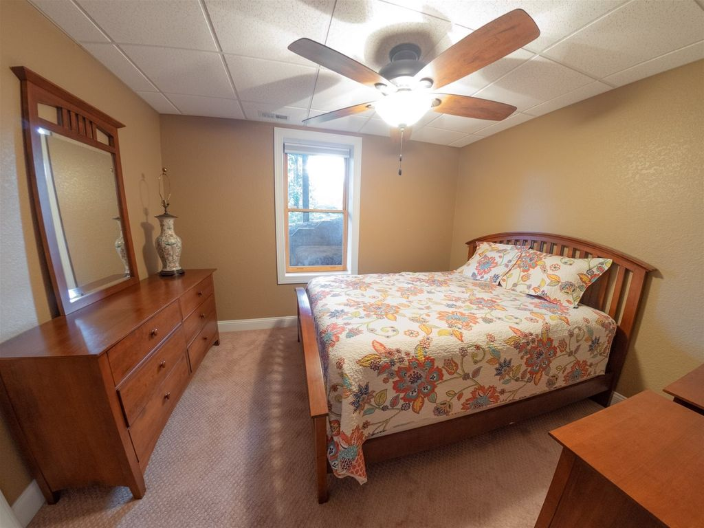 This bedroom is the lower level.