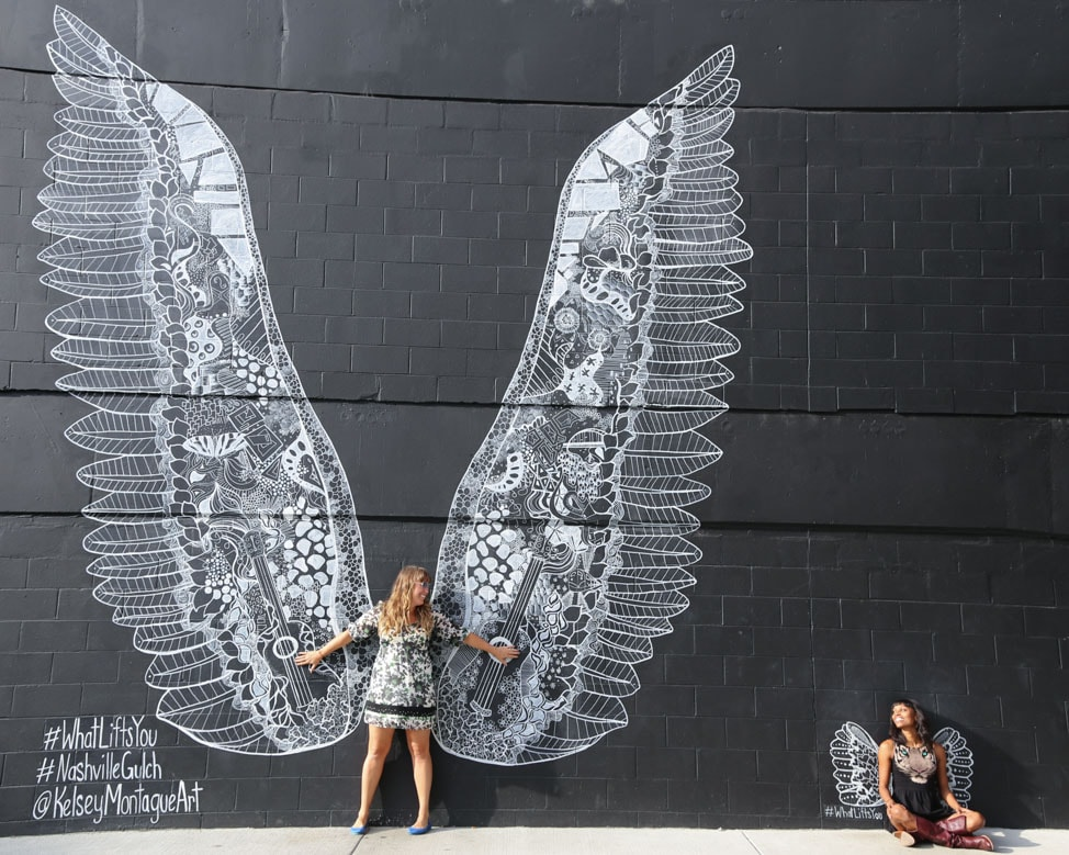 Take a quick Uber to The Gulch for more murals and shopping!