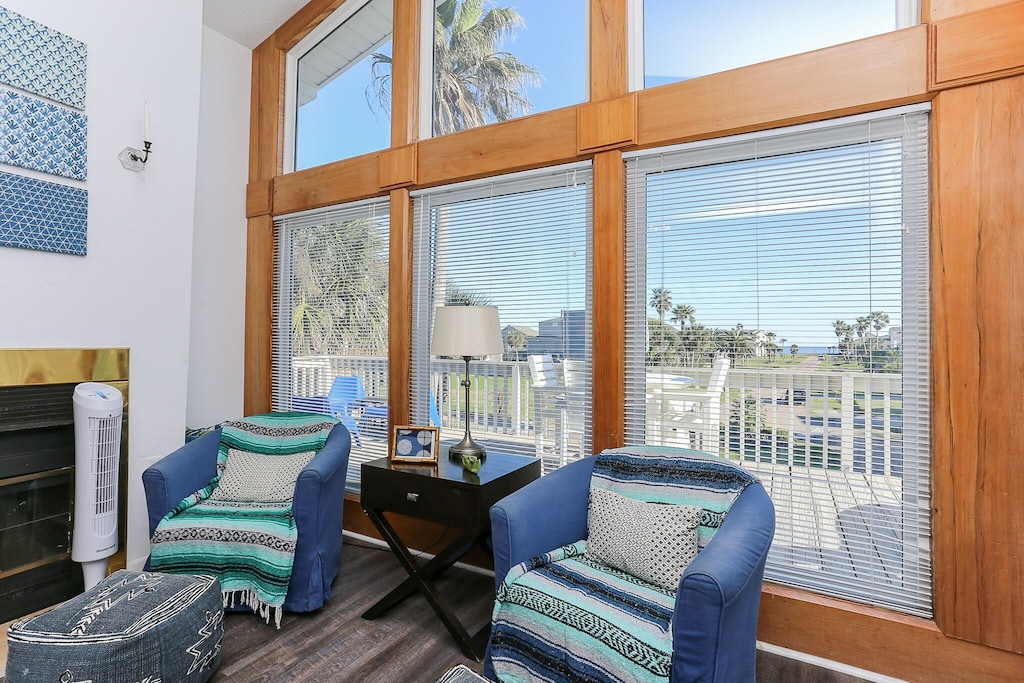 Beautfiul windows with beach view
