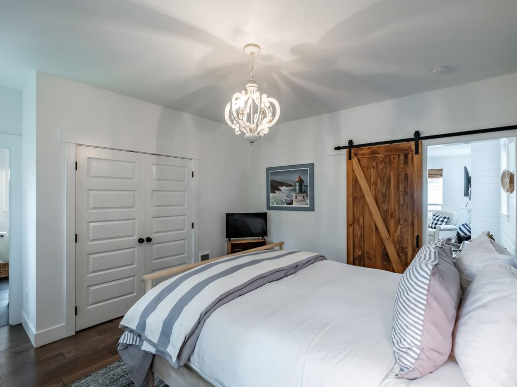 All bedrooms offer hangers and storage space, as well as extra pillows and blankets.