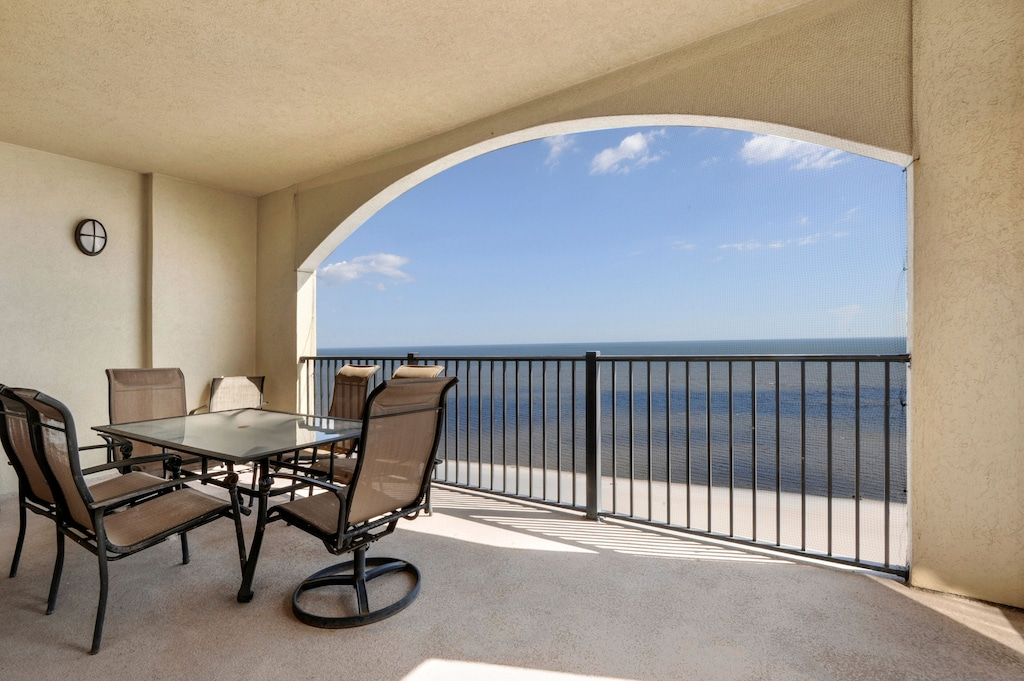 12th story view and private balcony