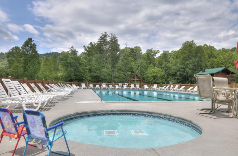 Kiddie pool & big pool!