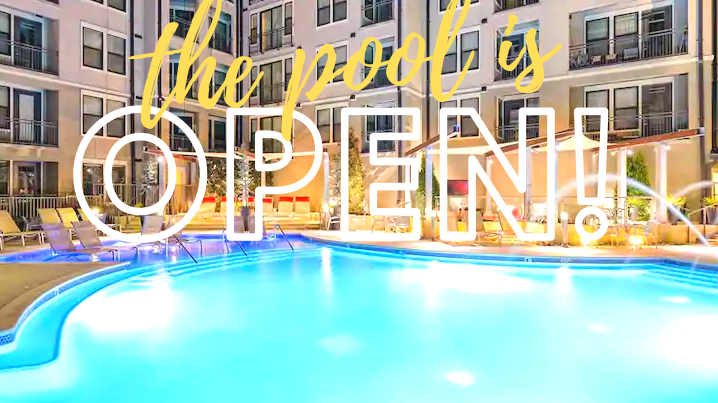 The pool open, come enjoy the sun in Nashville! Just minutes from Broadway!