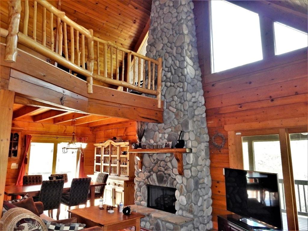 View of livingroom when standing near front door.