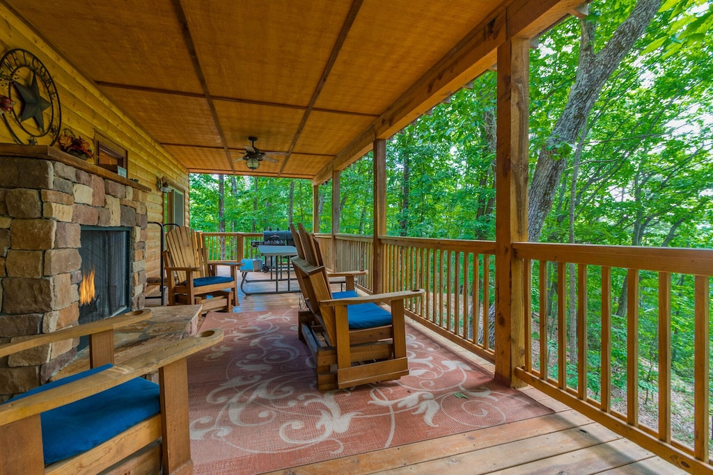 Back Deck with Gas Fireplace