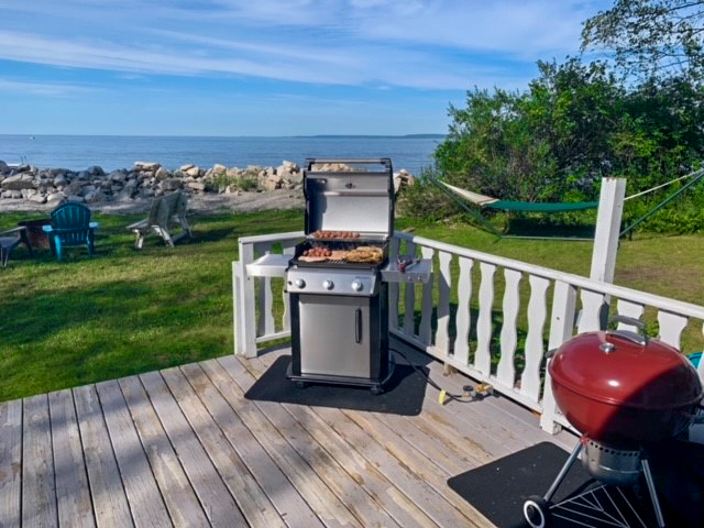 Grilling Station! We have a propane grill and charcoal grill!