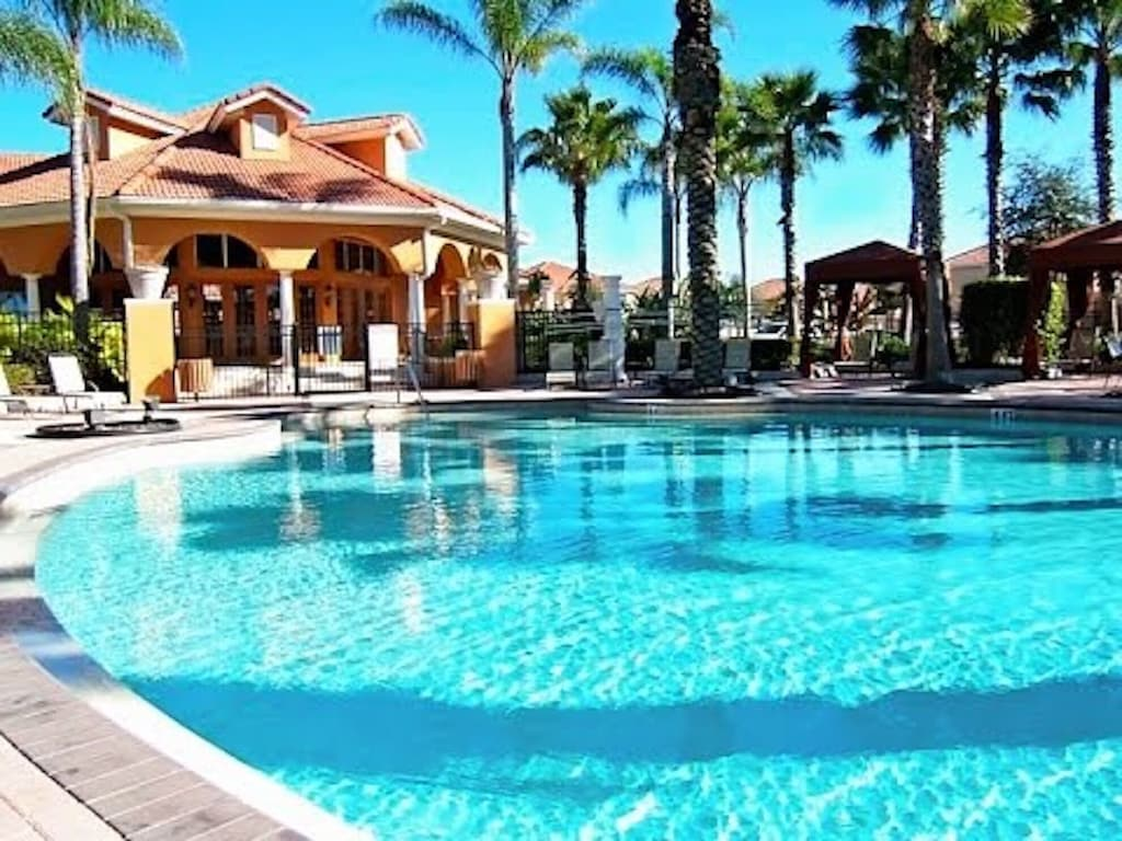 Clubhouse and huge resort pool walking distance to the house