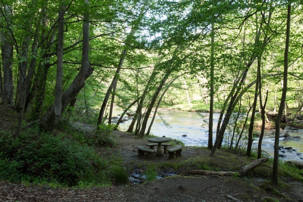 Riverbend amenities - Just imagine having a meal here by the river.