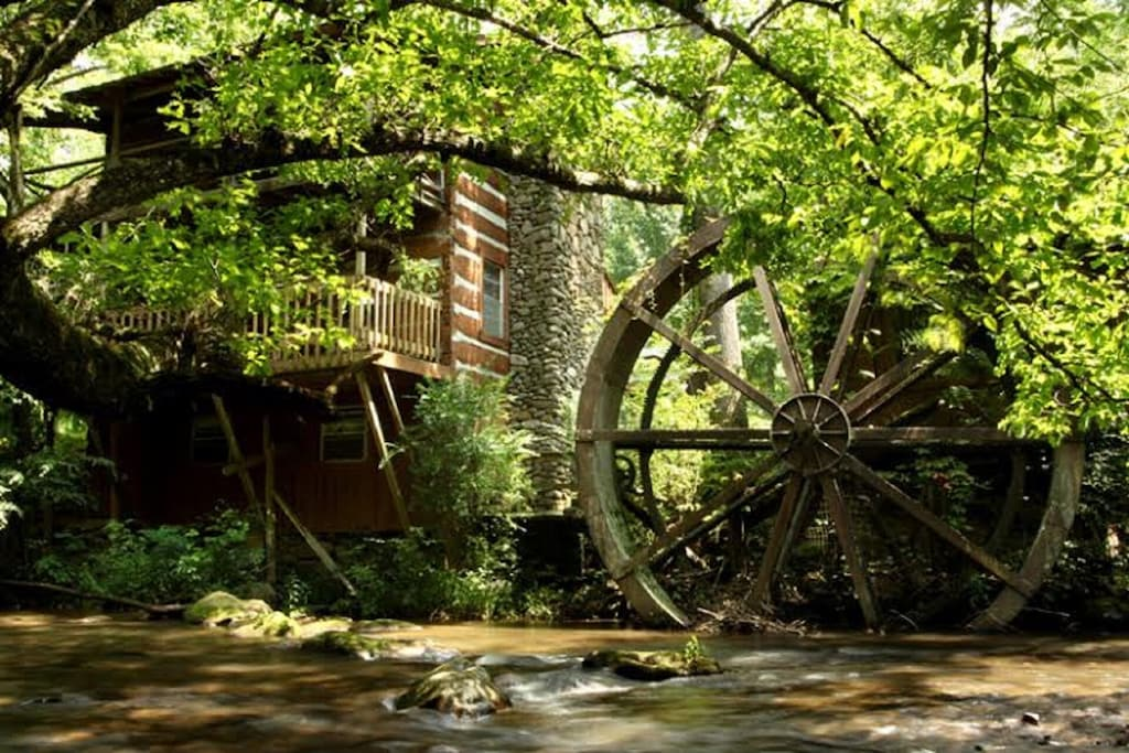 The wheel that operated the grist mill