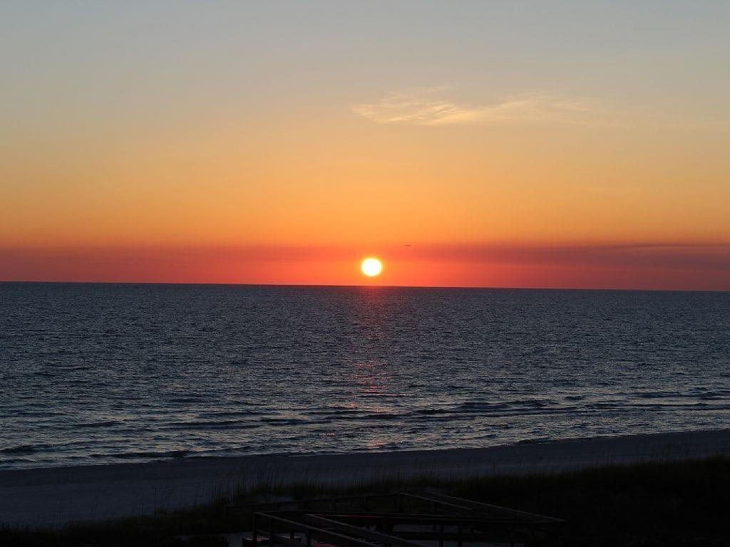 Breathtaking Cape San Blas sunset.