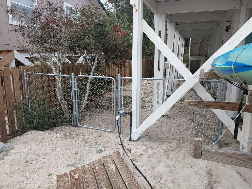 Newly added fenced in area for dogs