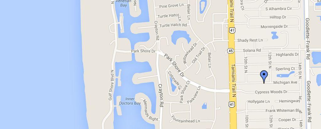 Nehmen Sie den Park Shore Drive zum Strand!