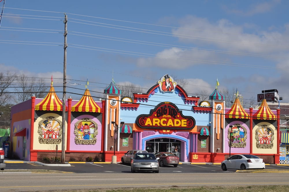 Lots of Arcades to visit here in PIgeon Forge!