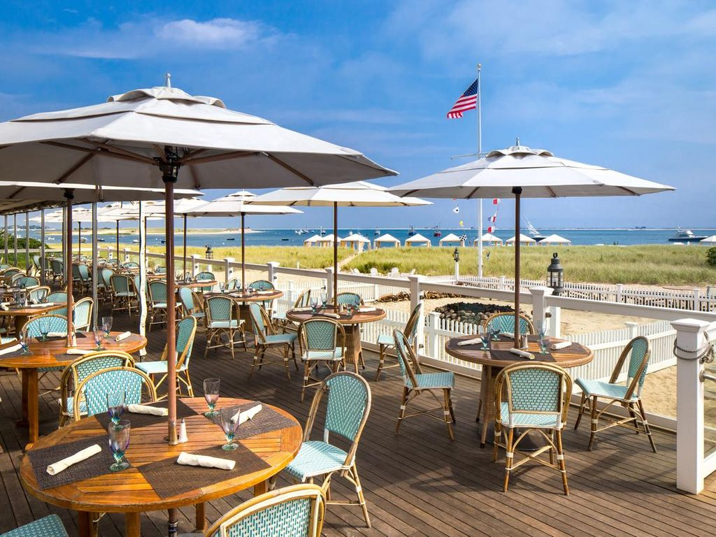 Walk to Chatham Bars Inn and enjoy the waterfront dining venue choices.