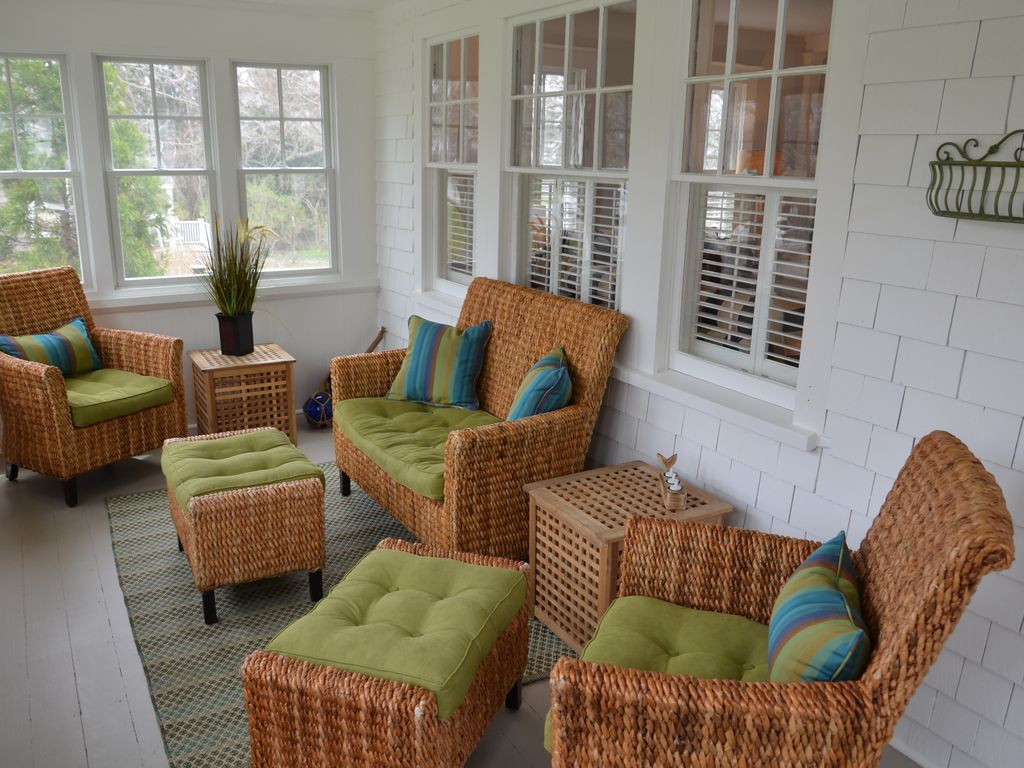 Raining outside?  Sit on the porch with your favorite beach novel!