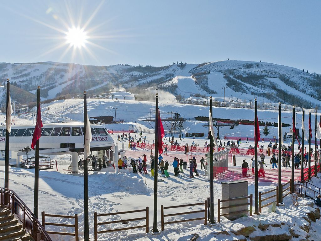 Ski school at Park City Resort.  Just down the ski run from condo.