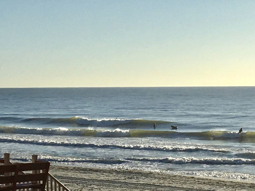 Love watching the surfers from the balcony!