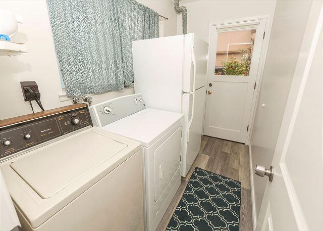 laundry room plus guest room entry