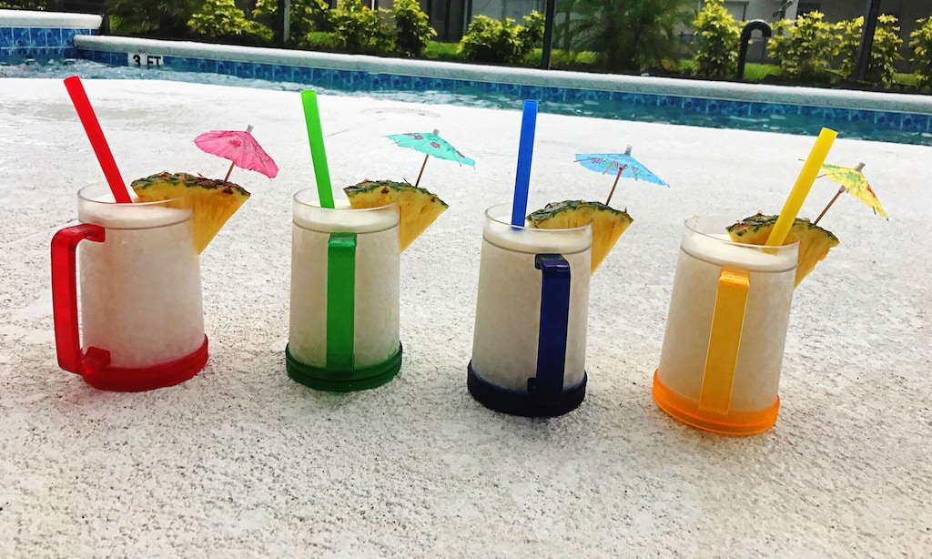 When I make fruity drinks, I like to color coordinate the straws and umbrellas!