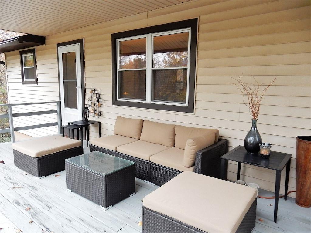 Cozy front deck
