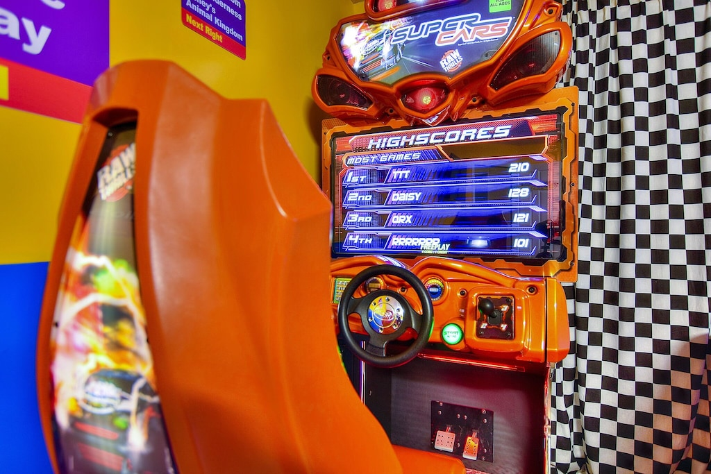 Full-sized arcade machine with free play!