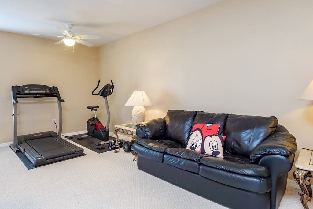 Themed Game Room with GYM Equipement