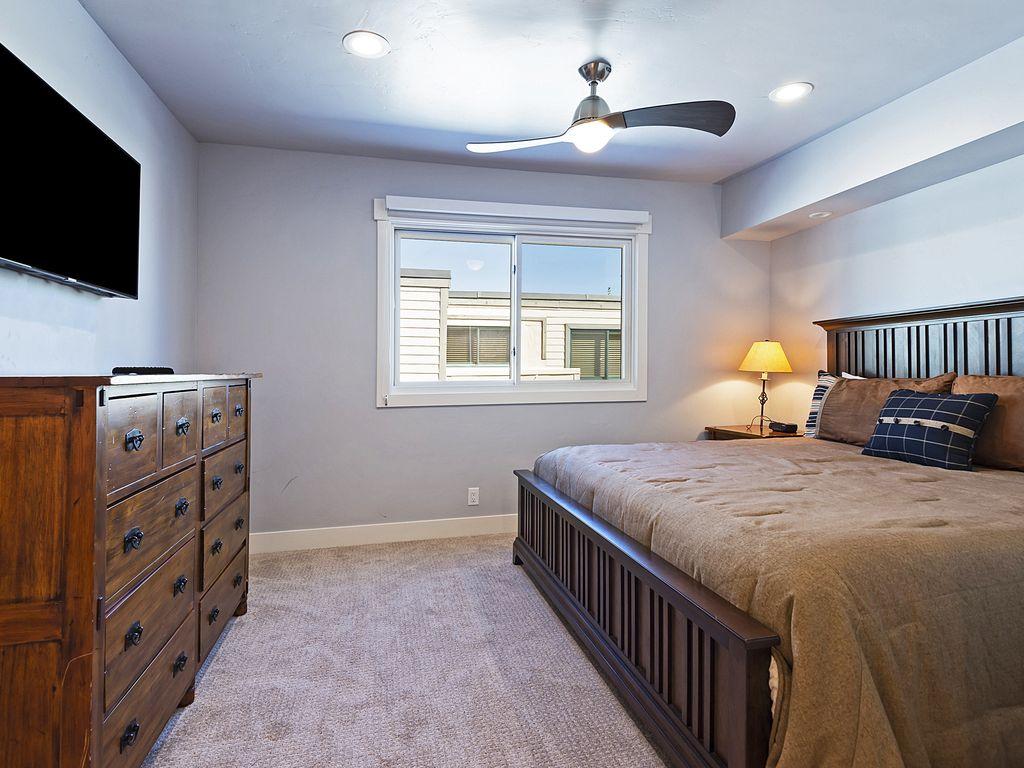 3rd bedroom upstairs - king bed, ensuite bath, sleeper sofa