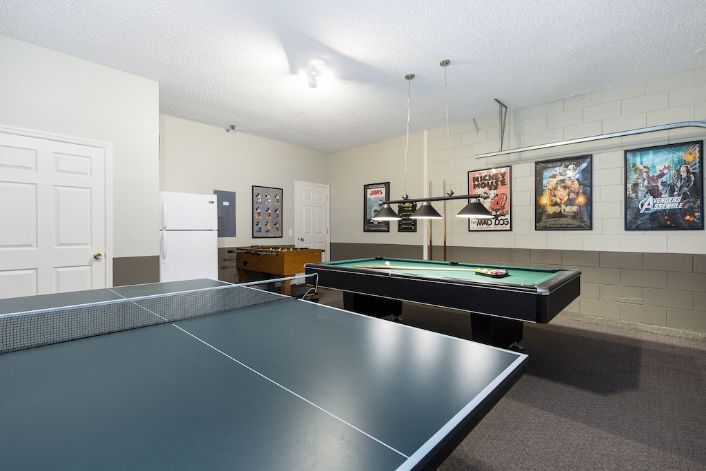 Ping pong as well in the game room.