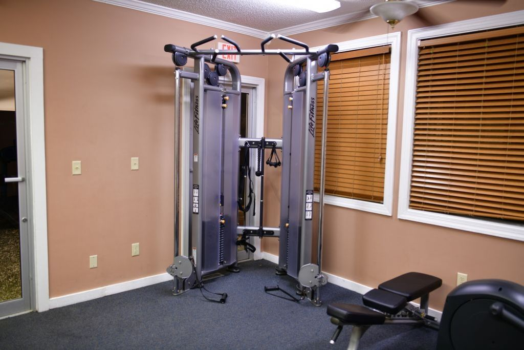 Exercise Equipment.  Located next to restaurant.
