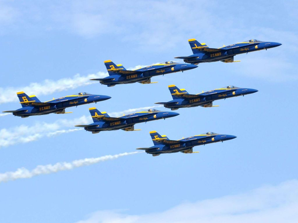 Keep an eye out for the Blue Angels!