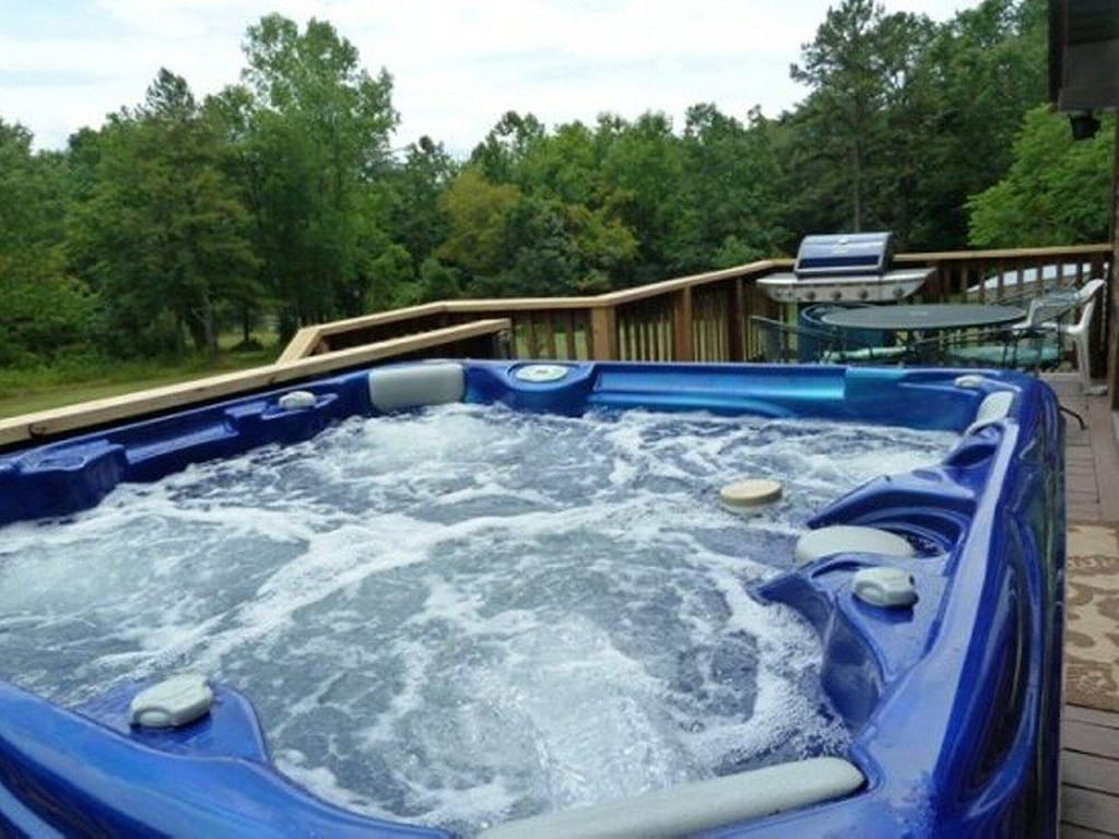 Relax in a hot tub after a long hike!