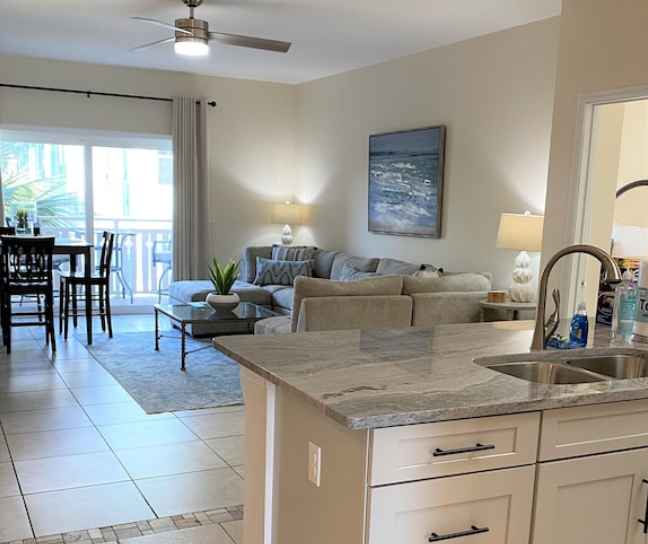 The floor plan at Two Sisters in Paradise is open and comfortable.