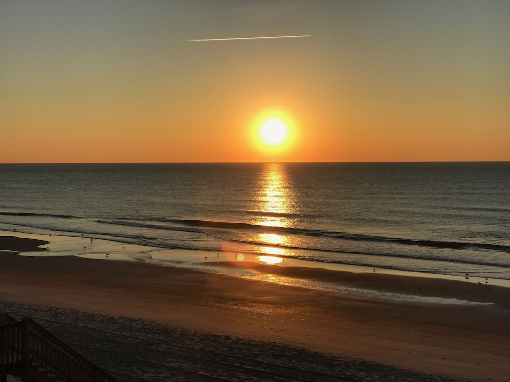watch the sunrise from the deck.