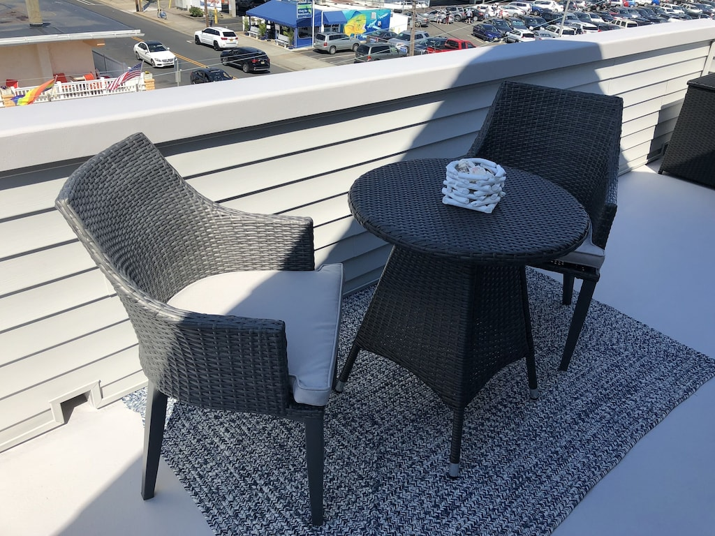 2 unit bistro set for coffee in the morning off of the King Master Suite