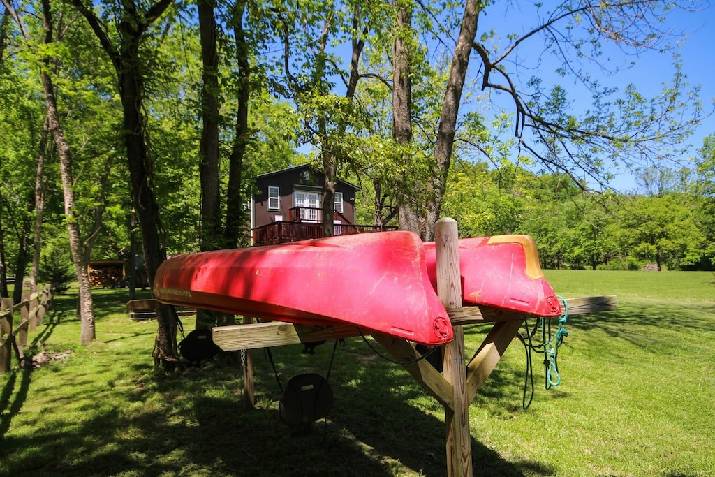 Canoes provided (and oars and life jackets too)